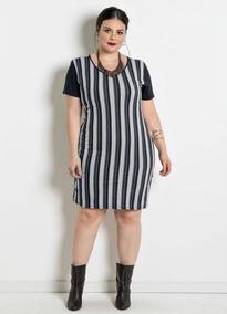 Vestido Plus Size Moda Evangélica Veste Tênis
