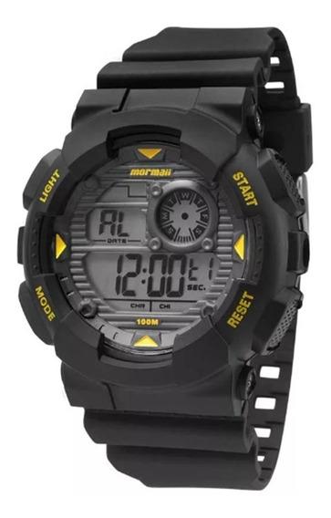 Relógio Mormaii Masculino Pulseira De Borracha | Calendário Digital | Timer | Alarme | Cronômetro Digital | Mo3415/8y