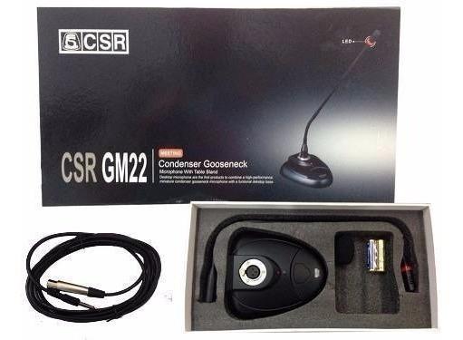 Microfone Gooseneck Condensador Cardioide 47cm Csr Gm 22