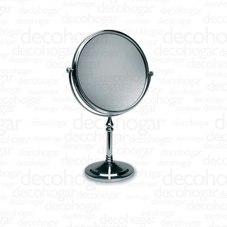 Espejo Pie Maquillaje Baño Aumento 2 Caras Giratorio Gl