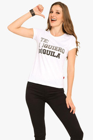 Playera Divertida Mujer Tequila