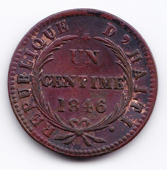 Haiti Moneda 1 Centavo De Cobre 1846 An 43 Km 25.2 Vf+