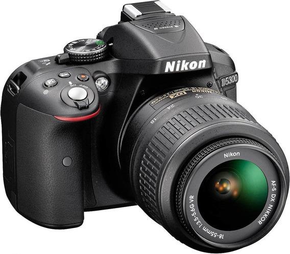 Câmera Nikon D5300 Lente 18-55 +32gb Class 10 + Capa