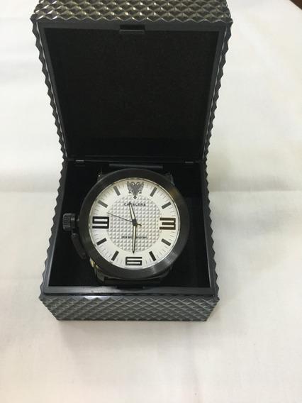 Relógio De Pulso Cavalera Cv28205 Couro Masculino Original