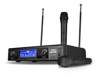 Microfono Profesional Doble De Mano Inalambrico 80m Vhf Base