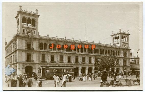 Postal Palacio Municipal Tranvía Eléctrico Mexico 1923