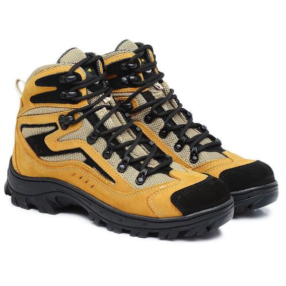 Bota Coturno Adventure Cano Alto Couro Hiking Kallucci Tr...