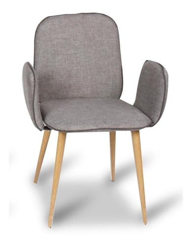 Imagen 1 de 3 de Silla Titan Con Brazo Gris Eames Kit De 4 Sillas