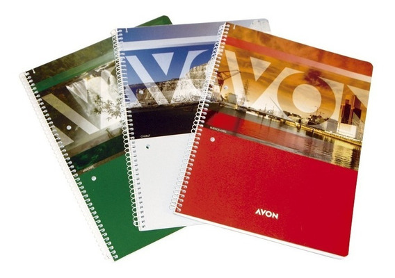 Cuaderno Universitario Avon 84 Hojas A4 Espiral Anillado