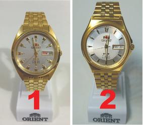 Relogio Orient Automatico Dourado - Cristal 3 Estrelas