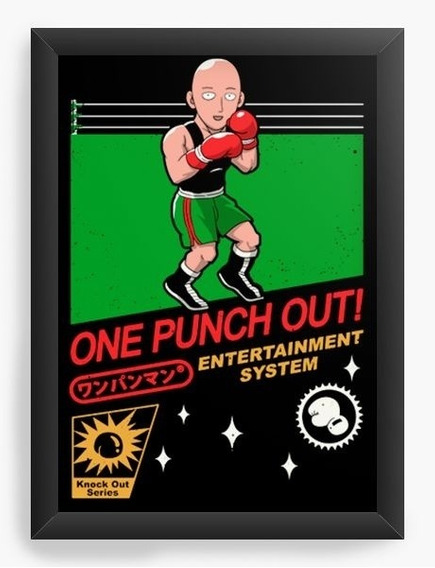Quadro Decorativo Geekz One Punch Out!