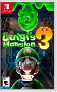 Luigis Mansion 3 Nintendo Switch. Físico Nuevo Sellado Envió