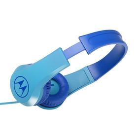 Fone De Ouvido Original Motorola Squad 200 Kids C/ Fio Azul