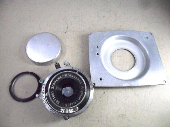 Lente Angulon 65mm F 6,8 Schneider Compur Grande Formato &