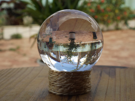Kit 10 Bolas Lente Cristal Lens Ball 80mm (8cm) Com Suporte
