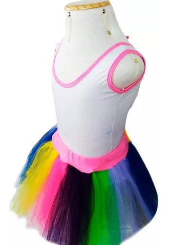 Fantasia Unicornio Infantil Feminino Com Tutu E Tiara Mercado Livre