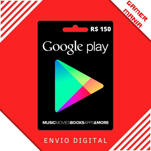 Google Play Store Gift Card R$150 Reais Android
