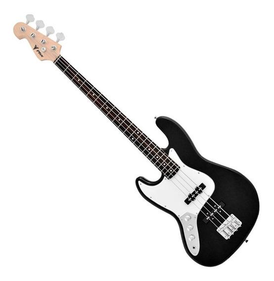 Contra Baixo Phoenix Jazz Bass Jbbk 4 Cordas Preto Canhoto