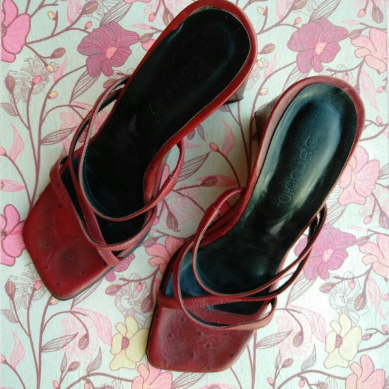 Zapatos Paruolo Taco Chino Talle 38
