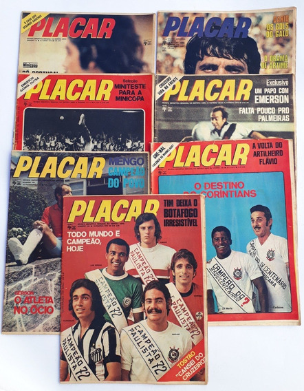 Placar 1972 E 1971 Abril Com 9 Revista Todo Mundo É Campeão