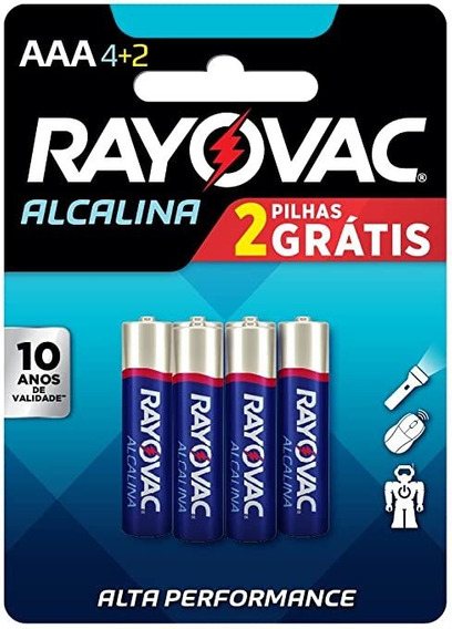 Pilha Rayovac - Palito Aaa - Leve 6 Pague 4 Spectrum Brands