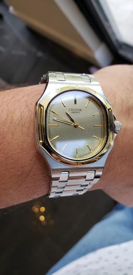 Reloj Seiko Credor Quartz Acero Oro Diseño Genta