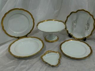 Juego Vajilla Porcelana Francesa Limoges 22 Pzas. Cód. 30596