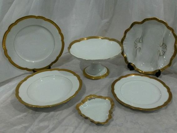 Juego Vajilla Porcelana Francesa Limoges 28 Pzas. Cód. 30596