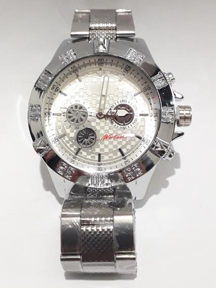 Relógio Wartan Pulseira Metal Prata Masculino