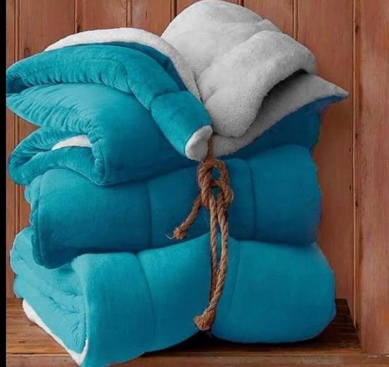 Coberdrom Flannel Com Sherpa 2.45x2.20 Sultan Diversas Cores