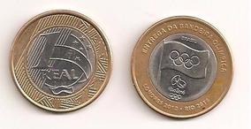 Moeda Comemorativa Da Entrega Da Bandeira Olimpica