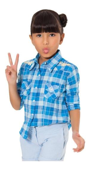 Camisa Xadrez Minina Reserva Mini