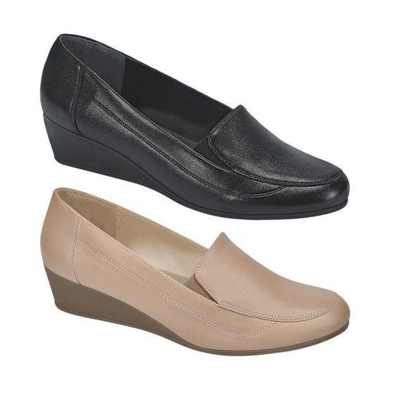 Kit De Zapato Dama Tipo Napa Alto 4cm. Shosh 4038 Cof 825033