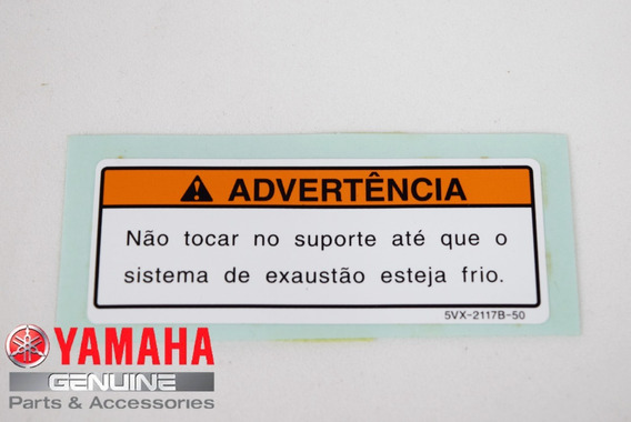 Etiqueta De Advertência De Temperatura Fz6 08-09 Original
