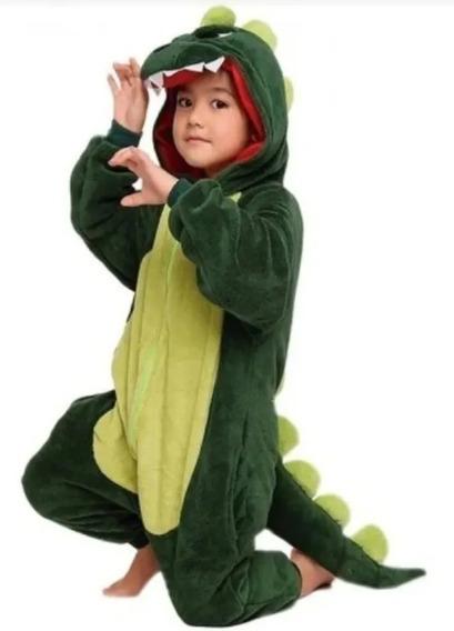 Pijama Kigurumi Enterito Disfraz Dinosaurio Niños