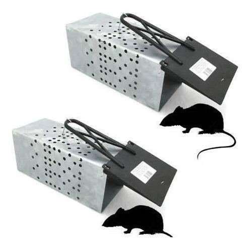 2x Ratoeira Tipo Gaiola Metálica Grande P/ Captura De Ratos