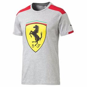 Exclusiva Puma Sf Ferrari Big Shield Grey Xl