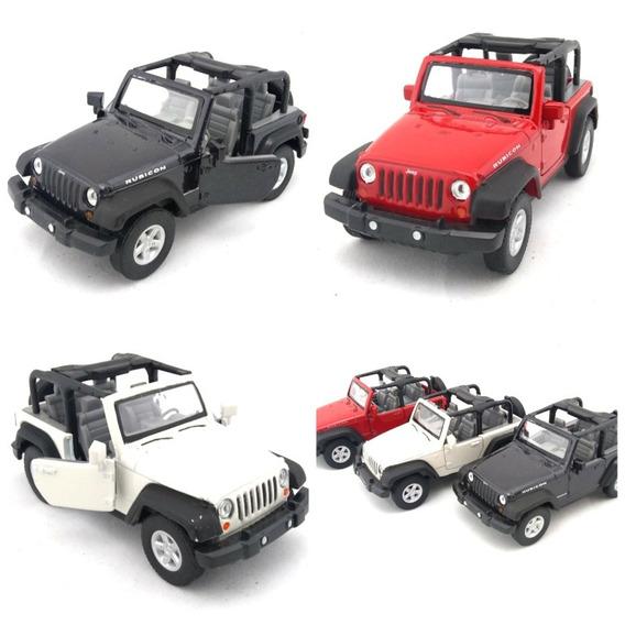 Miniatura Carrinho Jeep Wrangler Escala 1:42 Metal