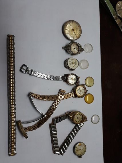 Relógios Antigos Para Restauração Ou Retirada De Peças
