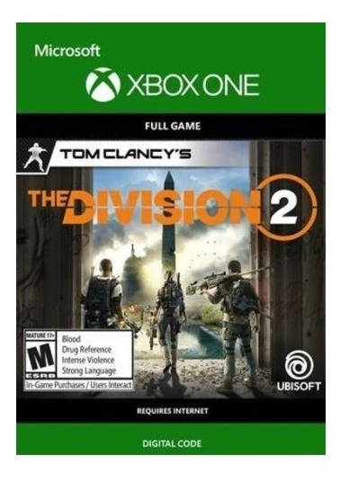 The Division 2 Xbox One Mídia Digital Código De 25 Dígitos