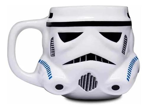 Imagem 1 de 6 de Caneca Geek Formato 3d Disney Star Wars Stormtrooper 500ml