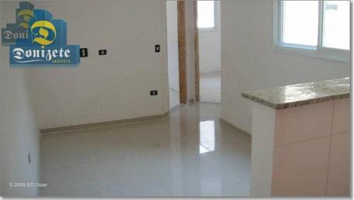 Cobertura À Venda, 84 M² Por R$ 260.000,00 - Vila Guarani - Santo André/sp - Co1236