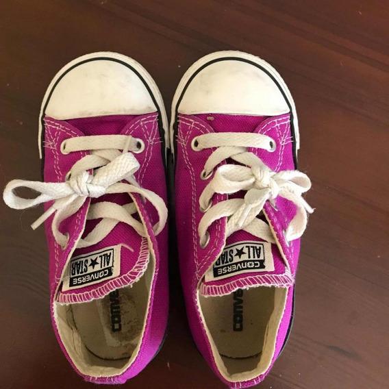 Zapatos Converse Morados Originales Talla 25