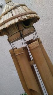 Espanta Espíritus Bambú Windchime Móvil De Viento Cucu Gigan