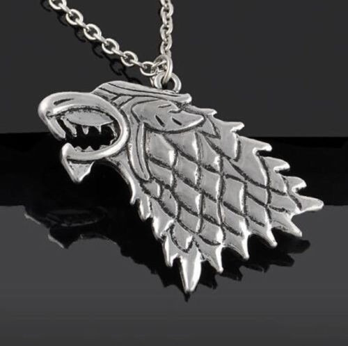 Colar Lobo Casa Stark Game Of Thrones Jon Snow Arya Bran