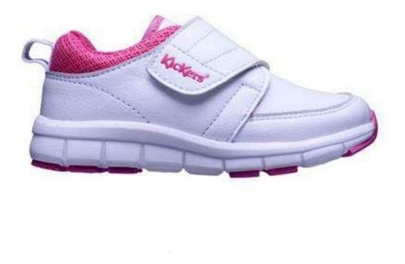 Zapatillas Colegial Kickers Dualfit Nueva Blanca Nena Abrojo