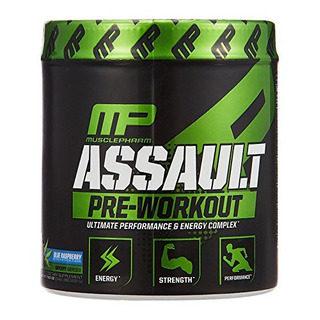 Assault Musclepharm 30 Doses Blue Raspberry Pré Treino