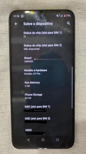 Imagem 1 de 3 de Celular Umidigi A7 Pro
