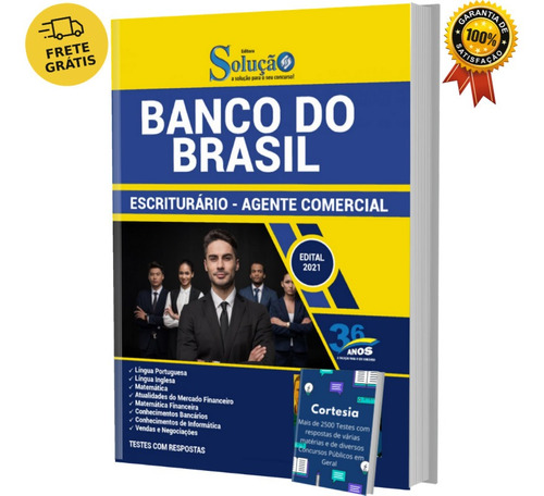 Imagem 1 de 6 de Apostila Bb - Banco Do Brasil Escriturário Agente Comercial
