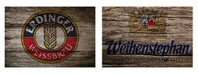 2 Quadros Madeira Rústico Cervejas Erdinger E Weihenstephan
